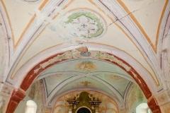 Kaplica w Jawornicy - widok wnętrza