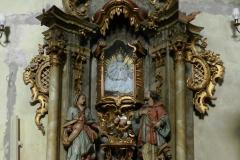 Ołtarz św. Rodziny przed konserwacją